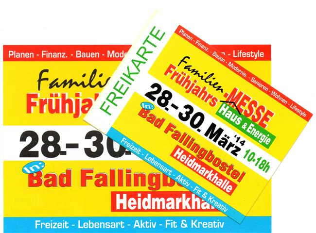 Freikarte Messe Bad Fallingbostel Familien Frühjahr
