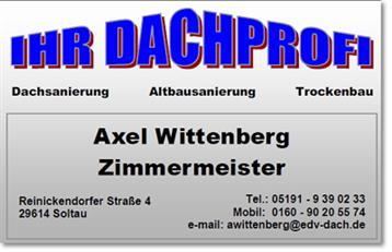 Zimmermeister Axel Wittenberg